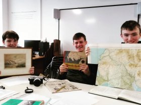 young people accessioning objects at The Devils Porridge Museum